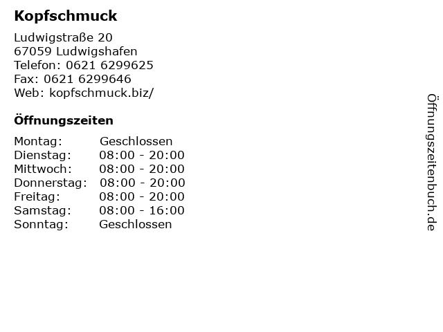 Kopfschmuck in Ludwigshafen: Adresse und Öffnungszeiten