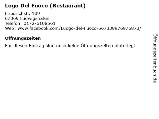 Logo Del Fuoco (Restaurant) in Ludwigshafen: Adresse und Öffnungszeiten