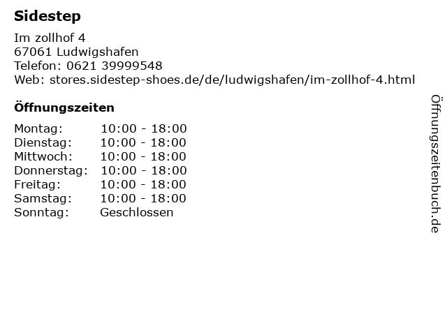 SIDESTEP in Ludwigshafen: Adresse und Öffnungszeiten