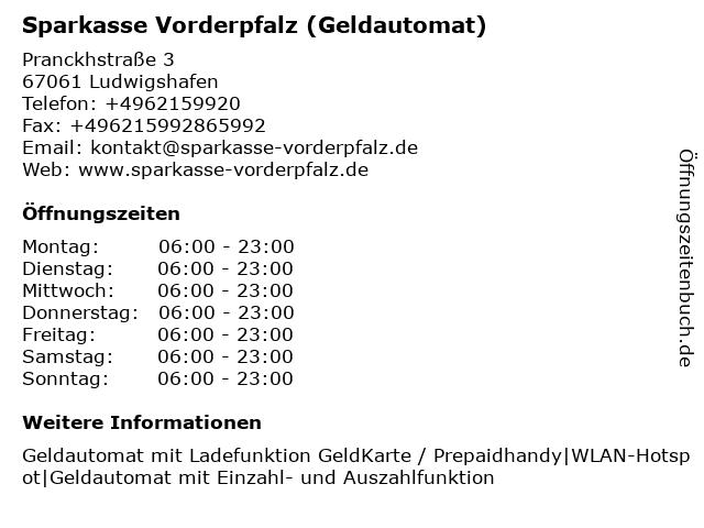 Sparkasse Vorderpfalz in Ludwigshafen: Adresse und Öffnungszeiten