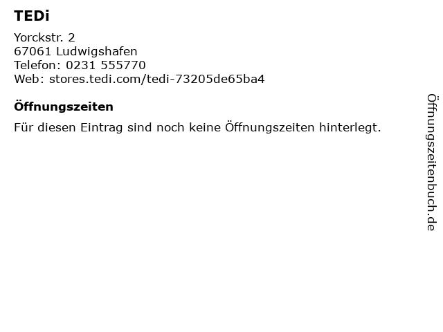 TEDi in Ludwigshafen: Adresse und Öffnungszeiten