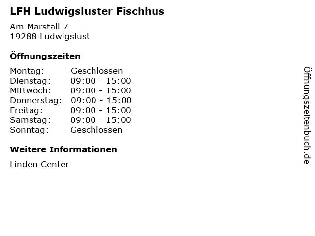 LFH Ludwigsluster Fischhus in Ludwigslust: Adresse und Öffnungszeiten