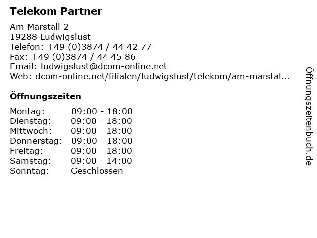 Telekom Shop Ludwigslust in Ludwigslust: Adresse und Öffnungszeiten