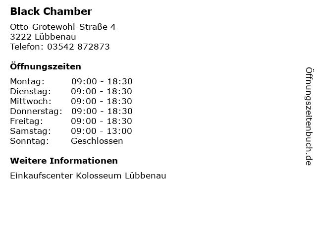 Black Chamber in Lübbenau: Adresse und Öffnungszeiten
