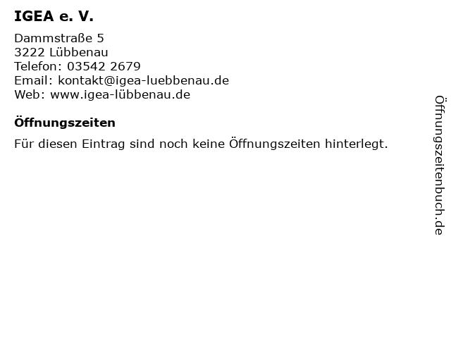 IGEA e. V. in Lübbenau: Adresse und Öffnungszeiten