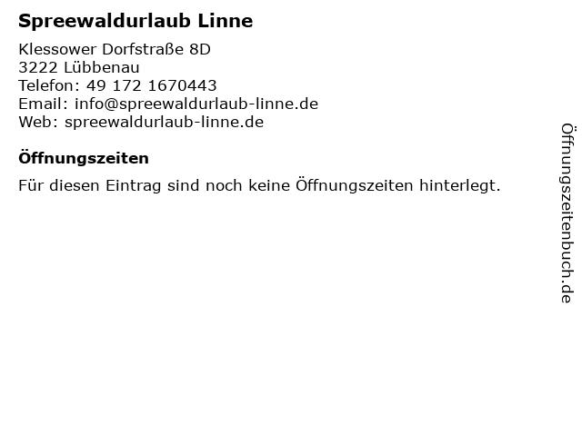 Spreewaldurlaub Linne in Lübbenau: Adresse und Öffnungszeiten