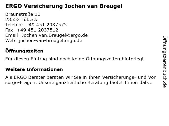 ERGO Versicherung Jochen van Breugel in Lübeck: Adresse und Öffnungszeiten