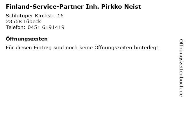 Finland-Service-Partner Inh. Pirkko Neist in Lübeck: Adresse und Öffnungszeiten