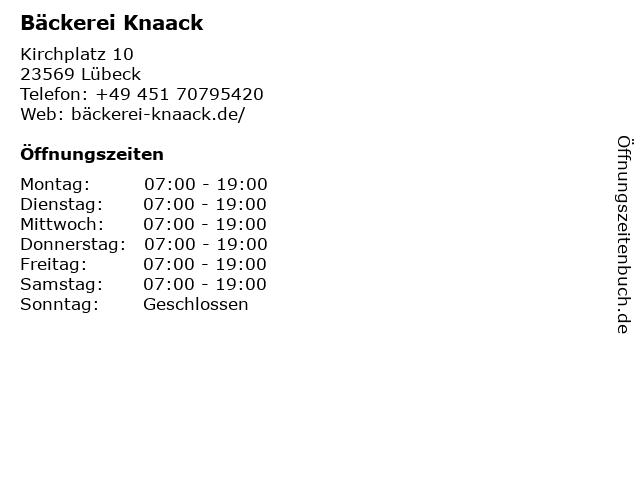 Junge DIE BÄCKEREI in Lübeck: Adresse und Öffnungszeiten
