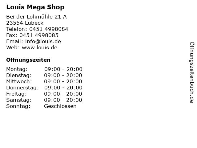 Louis Mega Shop in Lübeck: Adresse und Öffnungszeiten