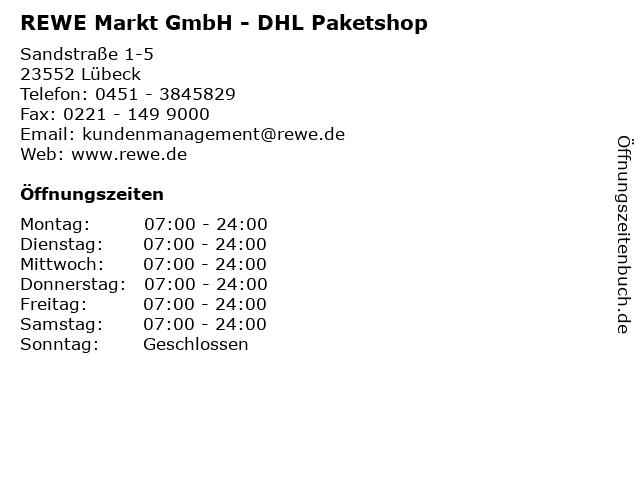 REWE Markt GmbH - DHL Paketshop in Lübeck: Adresse und Öffnungszeiten