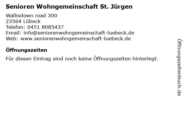 Senioren Wohngemeinschaft St. Jürgen in Lübeck: Adresse und Öffnungszeiten