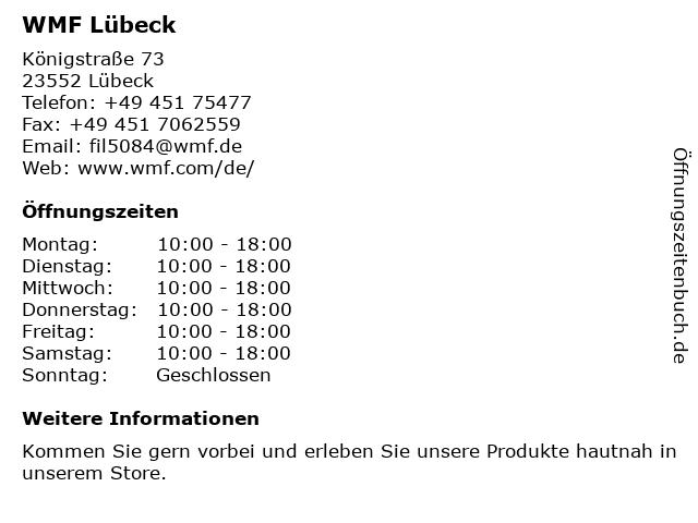 WMF in Lübeck: Adresse und Öffnungszeiten