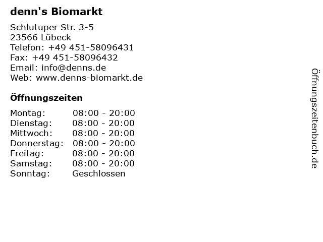 denn's Biomarkt in Lübeck: Adresse und Öffnungszeiten