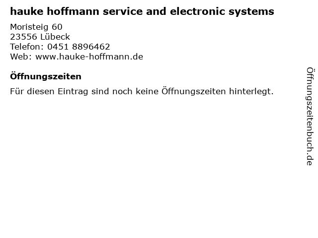 hauke hoffmann service and electronic systems in Lübeck: Adresse und Öffnungszeiten