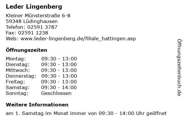Leder Lingenberg in Lüdinghausen: Adresse und Öffnungszeiten
