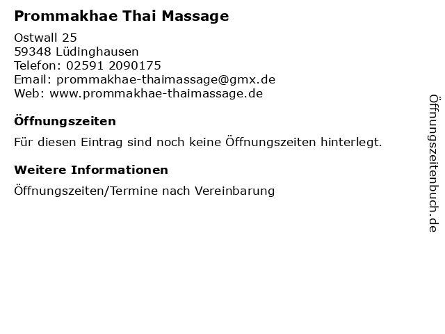 Thai massage lüdinghausen