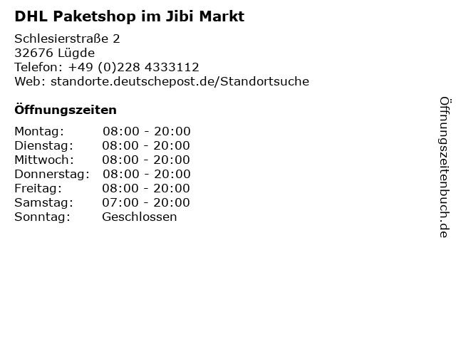 DHL Paketshop im Jibi Markt in Lügde: Adresse und Öffnungszeiten