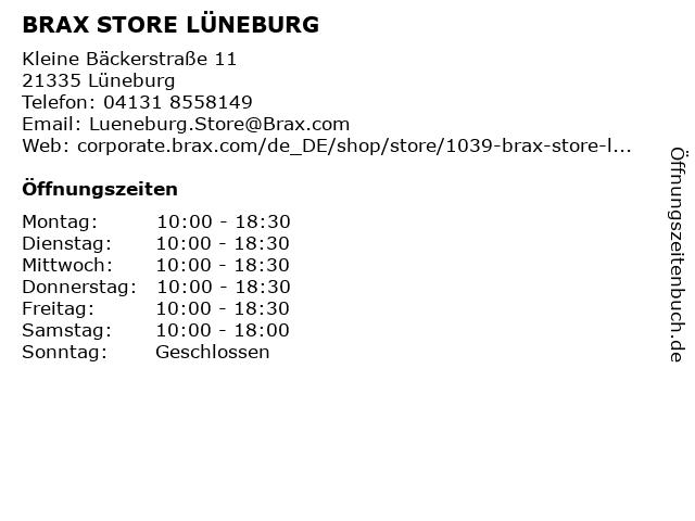 BRAX STORE LÜNEBURG in Lüneburg: Adresse und Öffnungszeiten