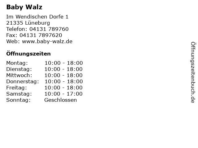 Baby Walz in Lüneburg: Adresse und Öffnungszeiten