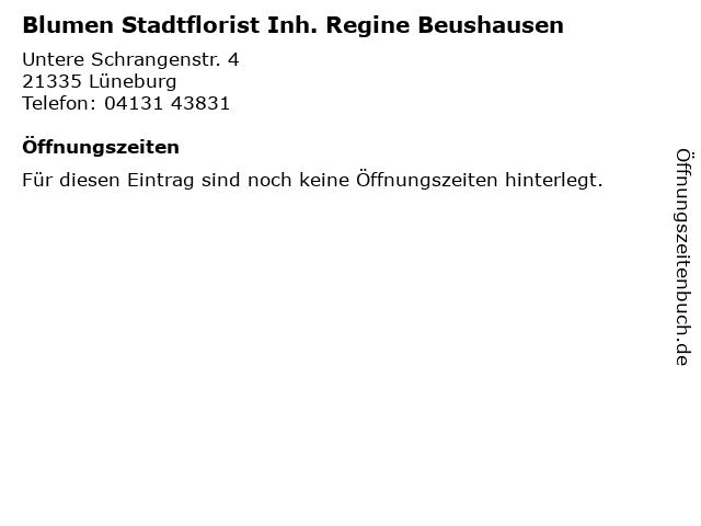 Blumen Stadtflorist Inh. Regine Beushausen in Lüneburg: Adresse und Öffnungszeiten