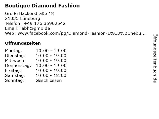 Boutique Diamond Fashion in Lüneburg: Adresse und Öffnungszeiten