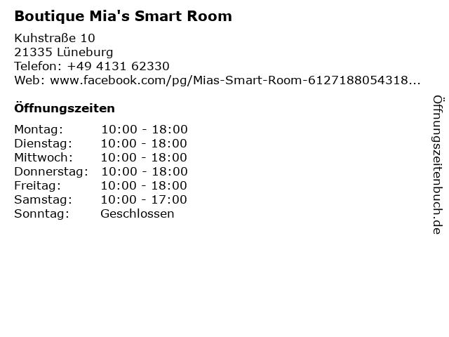 Boutique Mia's Smart Room in Lüneburg: Adresse und Öffnungszeiten