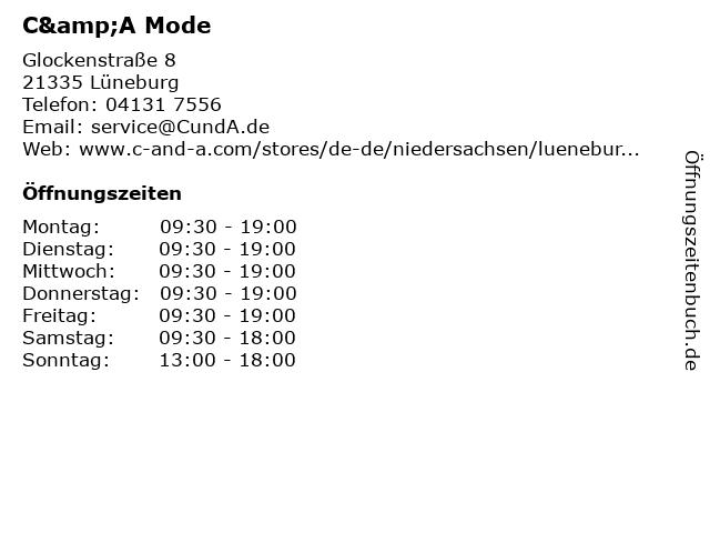 C&A Mode GmbH & Co. KG in Lüneburg: Adresse und Öffnungszeiten