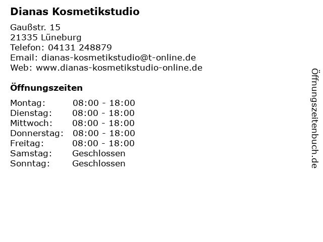 Dianas Kosmetikstudio in Lüneburg: Adresse und Öffnungszeiten