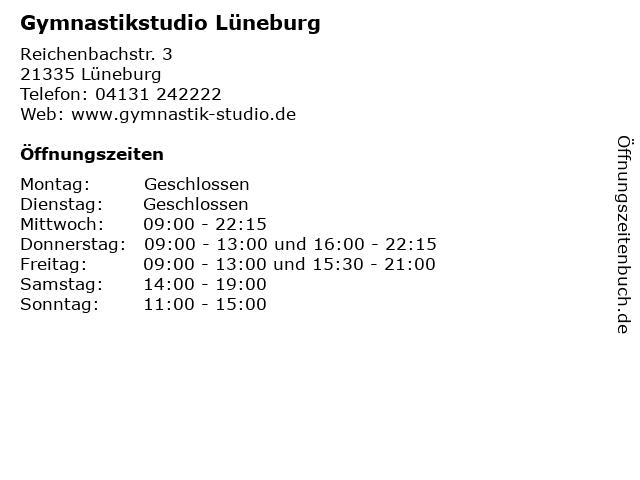 Gymnastikstudio Lüneburg in Lüneburg: Adresse und Öffnungszeiten