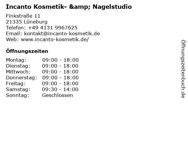 Incanto Kosmetik- & Nagelstudio in Lüneburg: Adresse und Öffnungszeiten