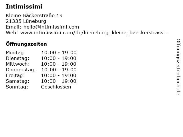 Intimissimi in Lüneburg: Adresse und Öffnungszeiten
