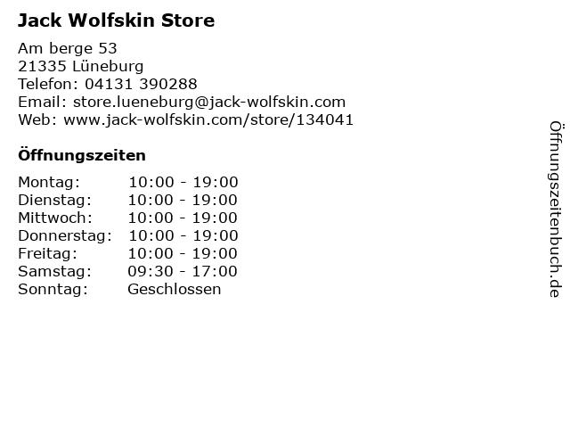 Jack Wolfskin in Lüneburg: Adresse und Öffnungszeiten