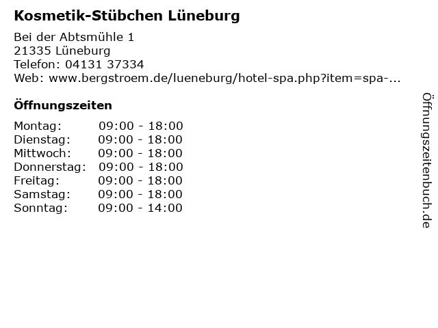 Kosmetik-Stübchen Lüneburg in Lüneburg: Adresse und Öffnungszeiten