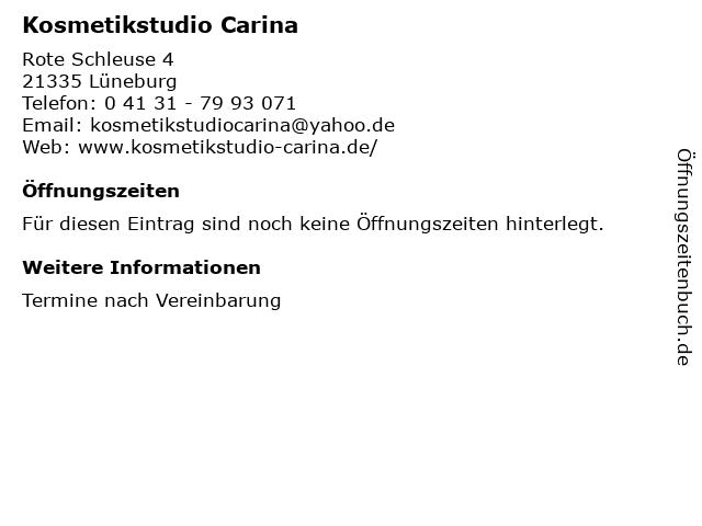 Kosmetikstudio Carina in Lüneburg: Adresse und Öffnungszeiten