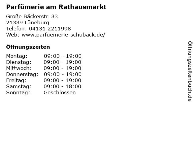 Parfümerie am Rathausmarkt in Lüneburg: Adresse und Öffnungszeiten
