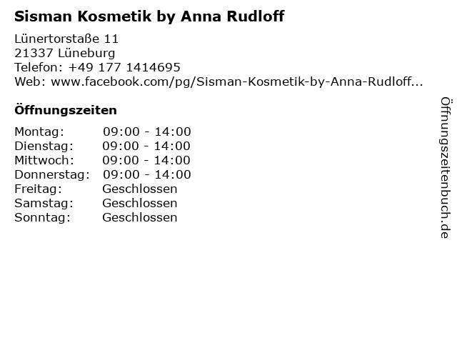 Sisman Kosmetik by Anna Rudloff in Lüneburg: Adresse und Öffnungszeiten