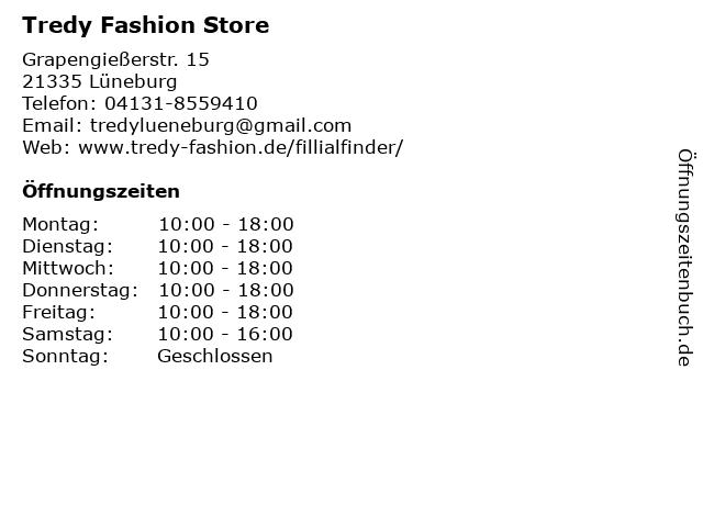 Tredy Fashion Store in Lüneburg: Adresse und Öffnungszeiten