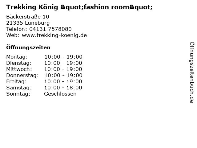 """Trekking König """"fashion room"""" in Lüneburg: Adresse und Öffnungszeiten"""