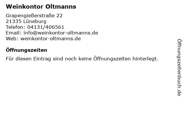 Weinkontor Oltmanns in Lüneburg: Adresse und Öffnungszeiten