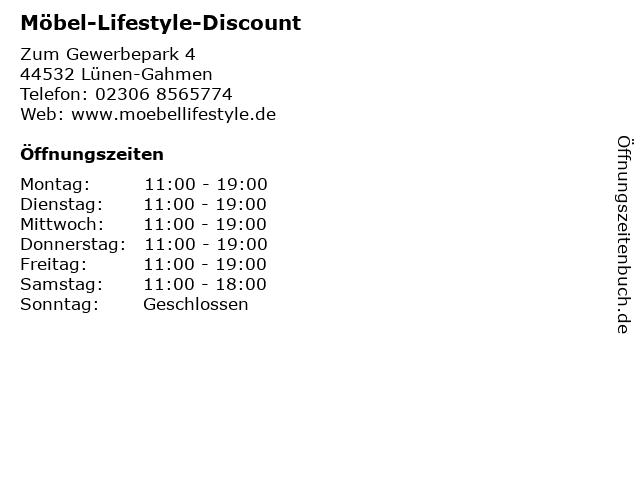 ᐅ öffnungszeiten Möbel Lifestyle Discount Zum Gewerbepark 4 In
