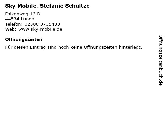 Sky Mobile, Stefanie Schultze in Lünen: Adresse und Öffnungszeiten