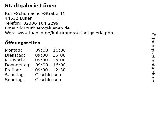 Stadtgalerie Lünen in Lünen: Adresse und Öffnungszeiten