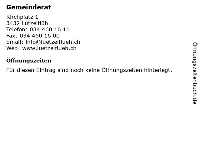 Gemeinderat in Lützelflüh: Adresse und Öffnungszeiten