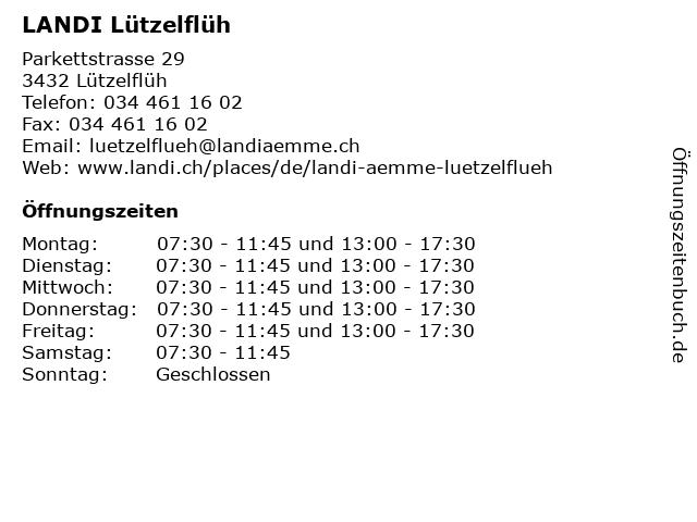 LANDI Lützelflüh in Lützelflüh: Adresse und Öffnungszeiten