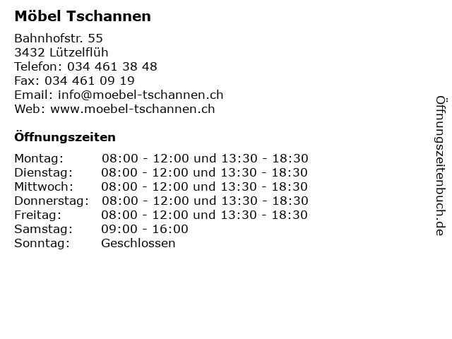 ᐅ öffnungszeiten Möbel Tschannen Bahnhofstr 55 In Lützelflüh