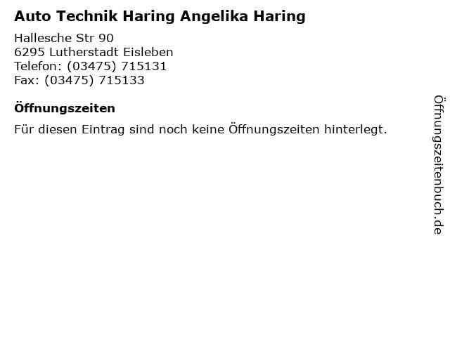 Auto Technik Haring Angelika Haring in Lutherstadt Eisleben: Adresse und Öffnungszeiten