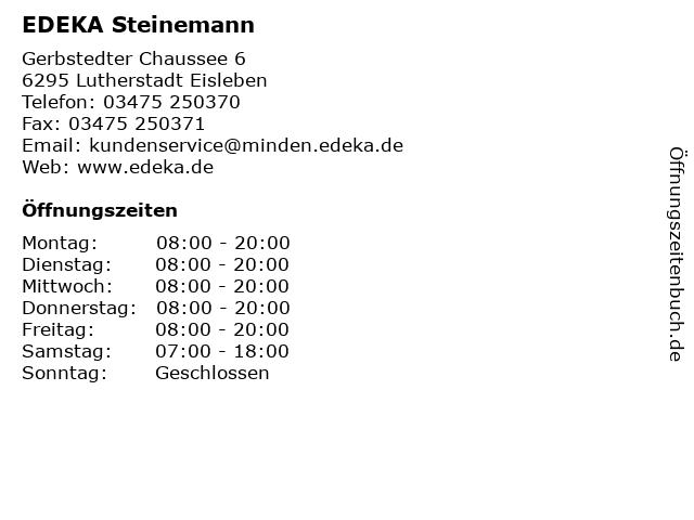 EDEKA Steinemann in Lutherstadt Eisleben: Adresse und Öffnungszeiten