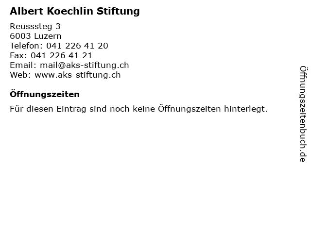 Albert Koechlin Stiftung in Luzern: Adresse und Öffnungszeiten