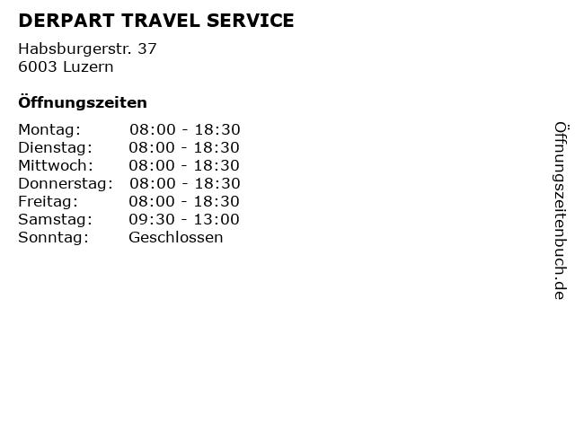 DERPART TRAVEL SERVICE in Luzern: Adresse und Öffnungszeiten